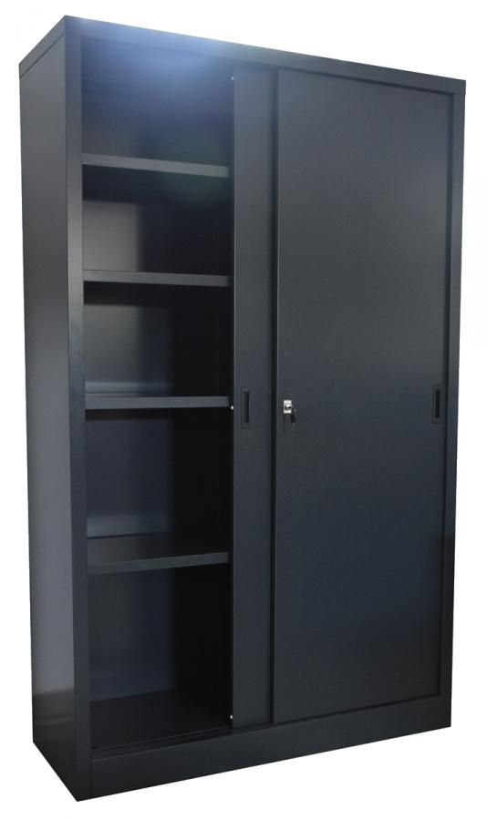 Schuifdeurkast met metalen deuren